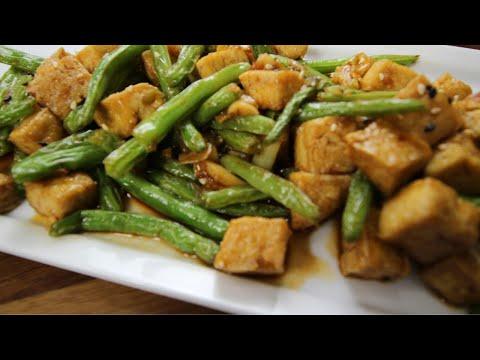 Schezwan Green Beans With Tofu