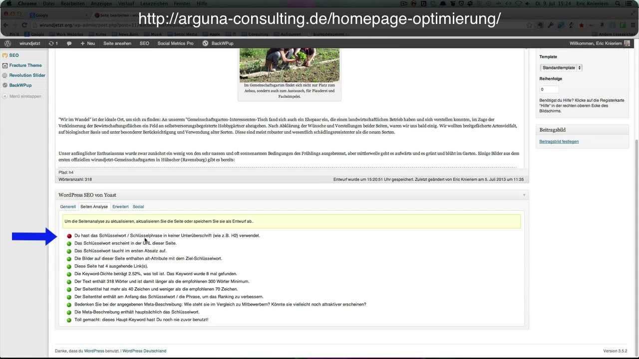 Homepage Optimieren
