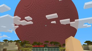 GIANT 24,612,759 BLOCK TNT BALL in Minecraft!