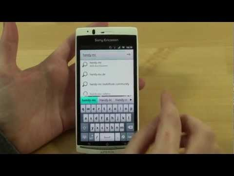Sony-Ericsson Xperia Arc S Test Internet