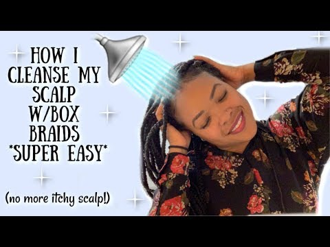 How I Cleanse My Scalp w/Box Braids | Dry Wash 2019
