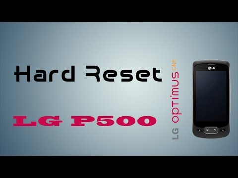 (Español) Hard Reset LG P500 Optimus One