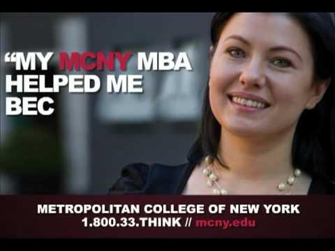 Metropolitan College of New York MY MCNY MBA