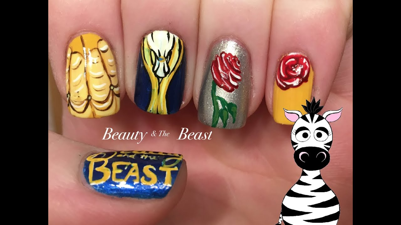 Beauty And The Beast Nail Art Design Tutorial Request Youtube
