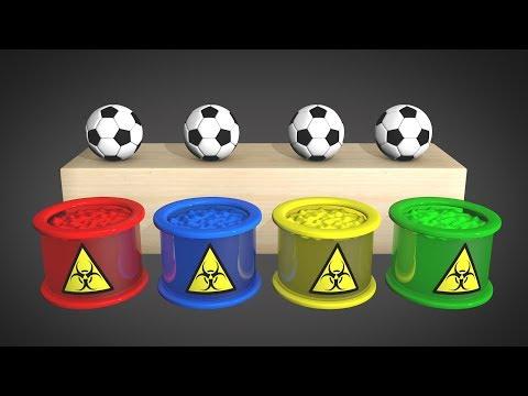 Футбольные Мячи и Яйца с Сюрпризом  \ Учим Цвета \ Обучающий Мультфильм для Малышей \ Волшебство ТВ