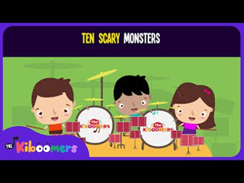 Ten Little Monsters Song for Kids  Halloween Counting Songs for Children  The Kiboomers