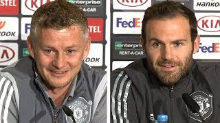 Ole Gunnar Solskjaer & Juan Mata Pre-Match Press Conference - AZ Alkmaar v Man Utd - Europa League