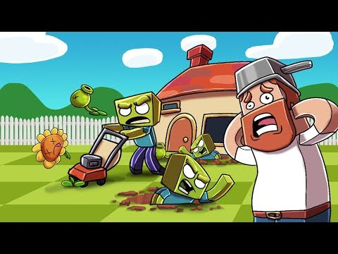 Minecraft - CRAZY DAVE GOES TO WAR AGAINST ZOMBIES! (Plants vs Zombies Challenge) thumbnail