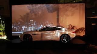 מופע אור קולי על גבי הואנקויש שהפיקה חברת 3D Pixel עבור אסטון מרטין ישראל