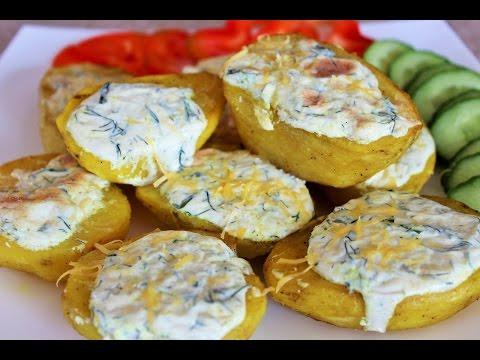 ЧЕСНОЧНАЯ КАРТОШКА в духовке. Обалденный картофель под сливочно-чесночным соусом!