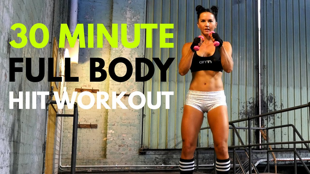 30 Minute INTENSE FULL BODY HIIT Workout at Home