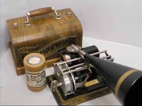 """Rigoletto - """"La Donna E Mobile"""" - Edison Grand Opera Cylinder Record"""