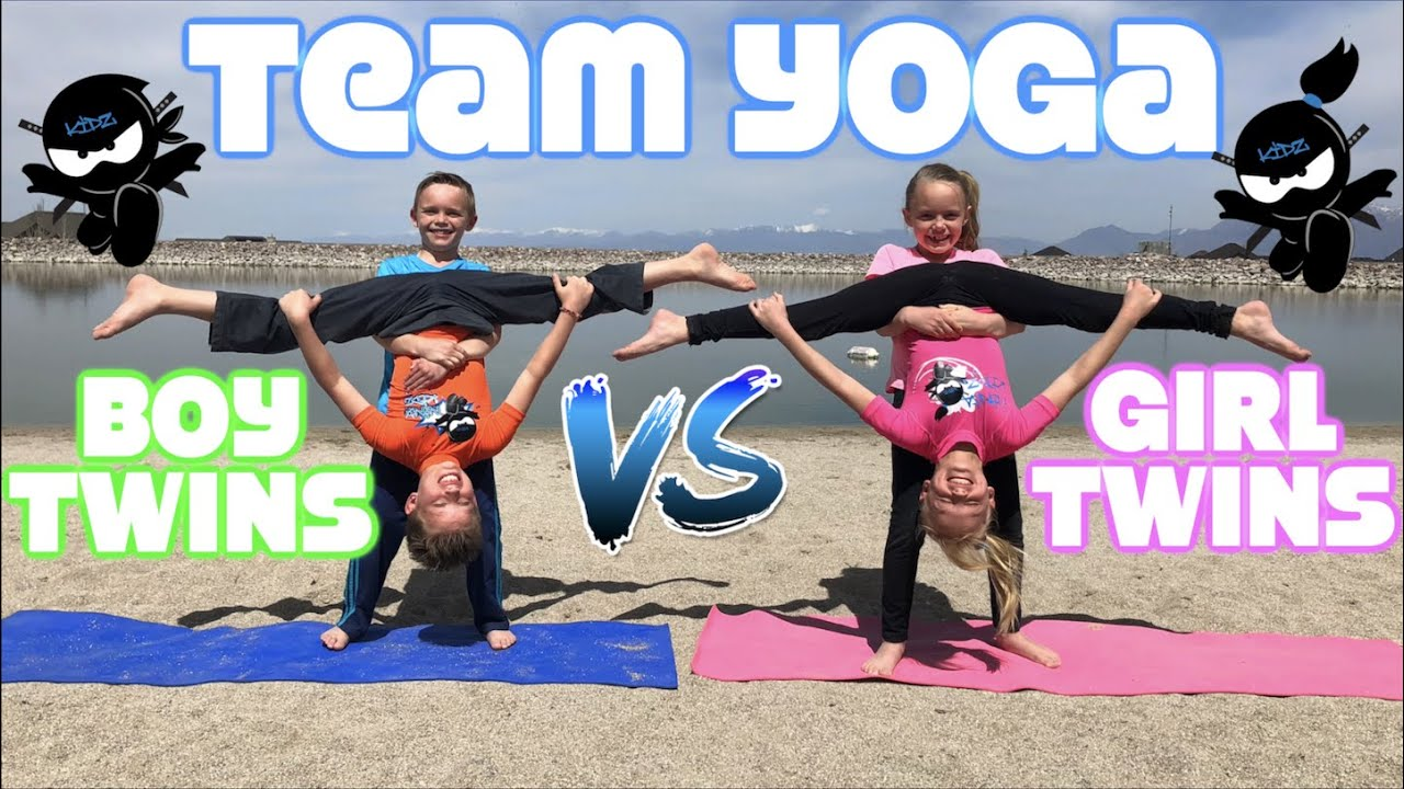 Boy Twins Vs Girl Twins Team Yoga Youtube