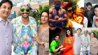 Ranveer Singh and Mother & Father Jagjit Singh Bhavnani with Family