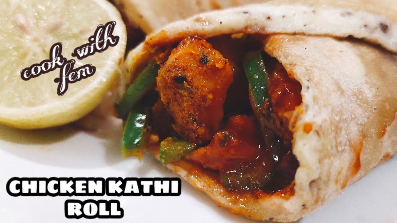 chicken roll recipe  kolkata special chicken kathi roll