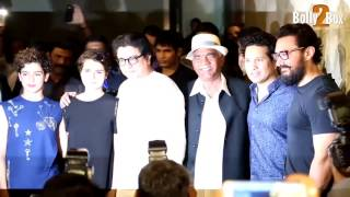 Sachin Tendulkar And Raj Thackeray At Dangal Movie Special Screening