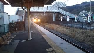 群馬原町を霜取り(カッター)列車が通過 6