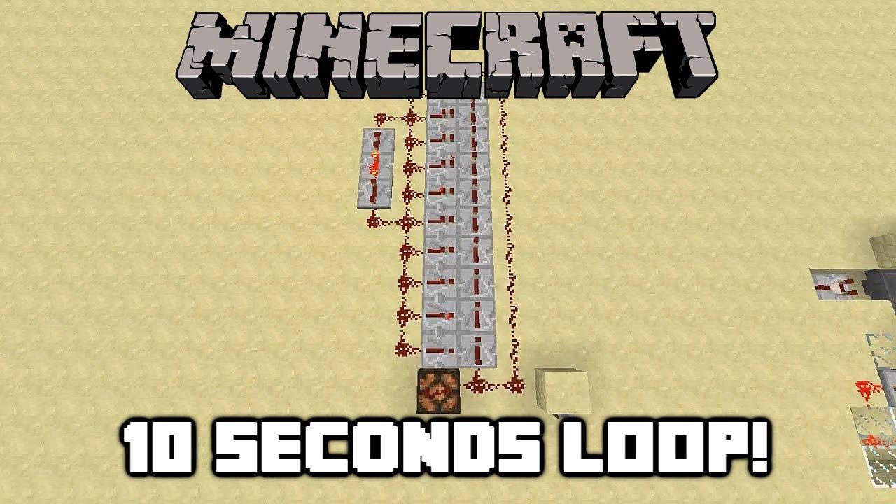 Minecraft: 10 Seconds Delayed Redstone Clock!