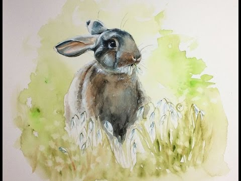 Watercolor Bunny Painting Demonstration