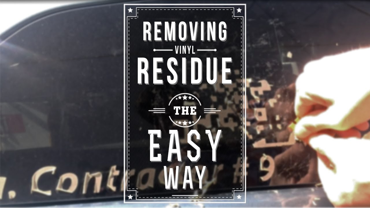 how to remove adhesive residue on a car or rv youtube. Black Bedroom Furniture Sets. Home Design Ideas