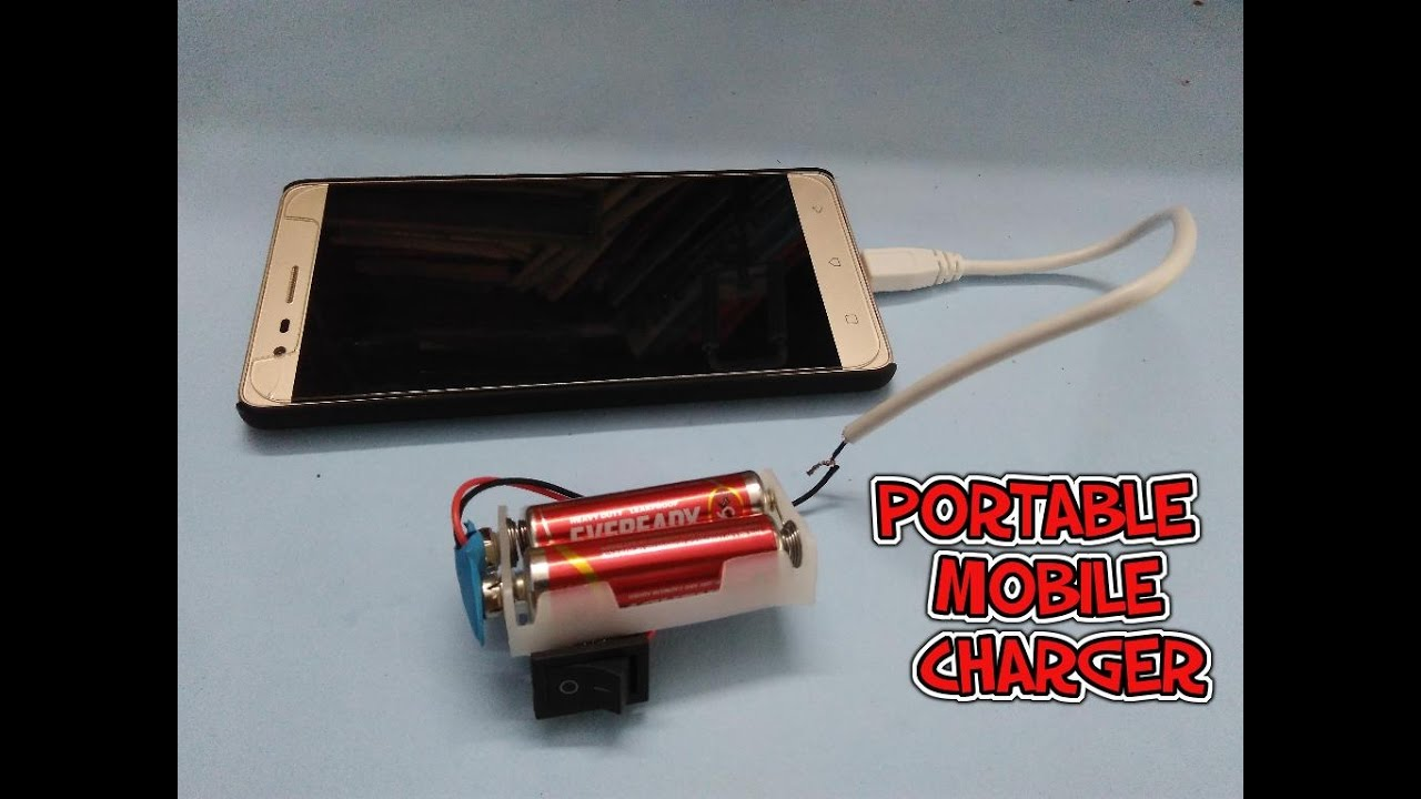 How To Make A Portable Mobile Phone Charger Youtube Battery Eliminator Circuit With L7812cv And 7805