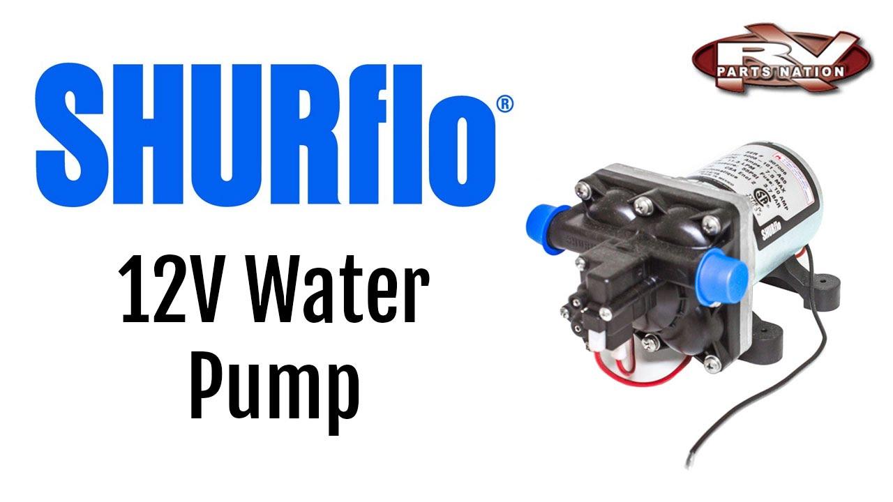 RV Water Pump SHURflo 12 volt 4008101E65  YouTube