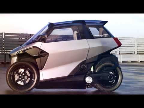 WOW..!!!  New PHEV Tilting Light Vehicle Concept  PSA Group Debuts