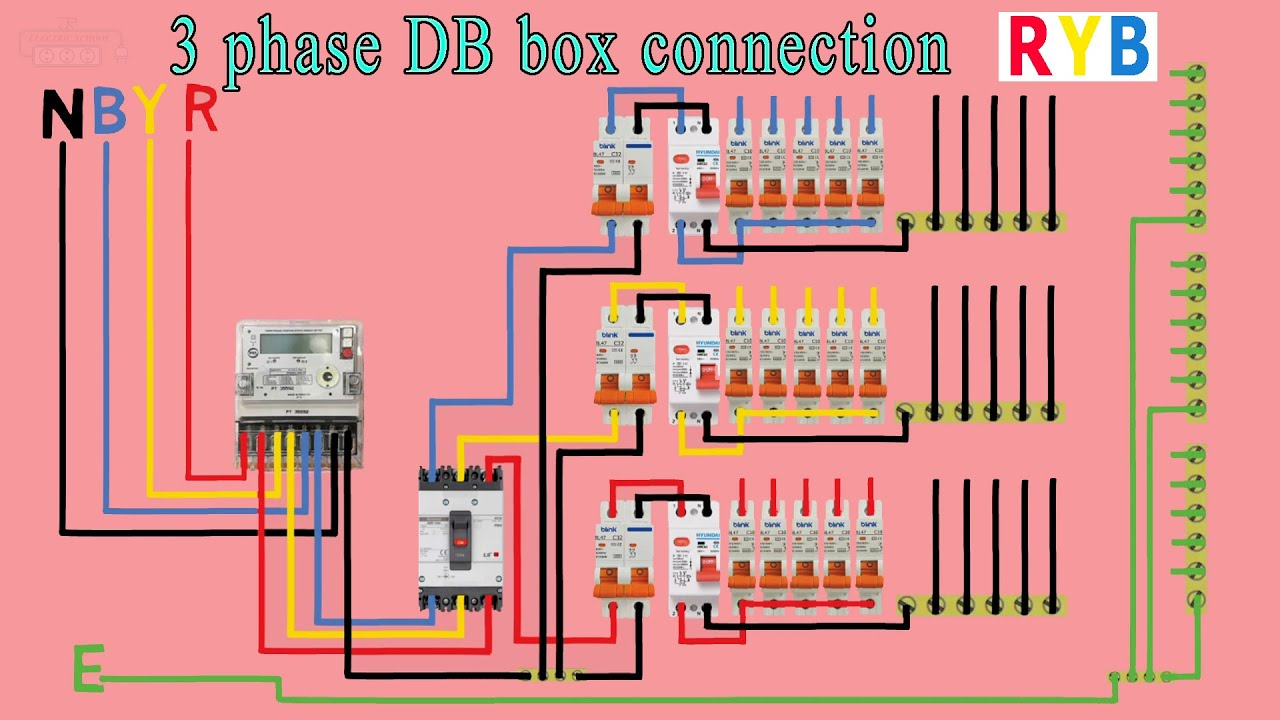 3 Phase Distribution Db Box Wiring Diagram