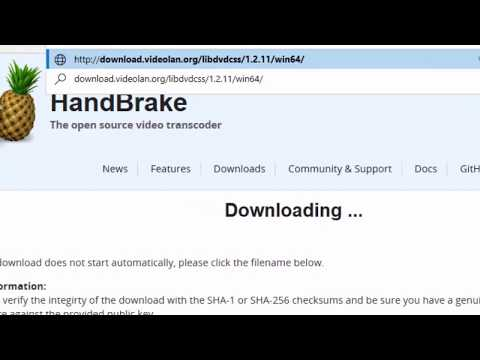 How To Install Handbrake and DVD Decryption DLL