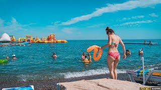 Пляжи в Алуште. Сколько туристов в Крыму. Столько народу Крым не видел давно