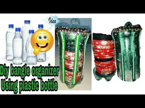 Bangle storage organizer using plastic bottle || Recycle plastic bottles