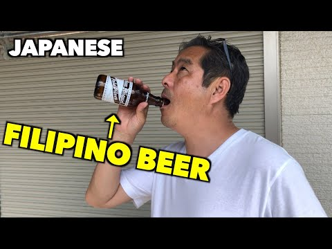 【JAPANESE】MY FATHER TRIES TO DRINK FILIPINO BEER FOR THE FIRST TIME! | BBQ VLOG