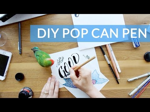 DIY POP CAN PEN - Homemade Ruling Pen