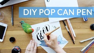 DIY FOLDED RULING PEN - Homemade Pop Can Ruling Pen