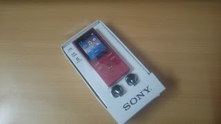 sony walkman nw e394 mp3 player unboxing