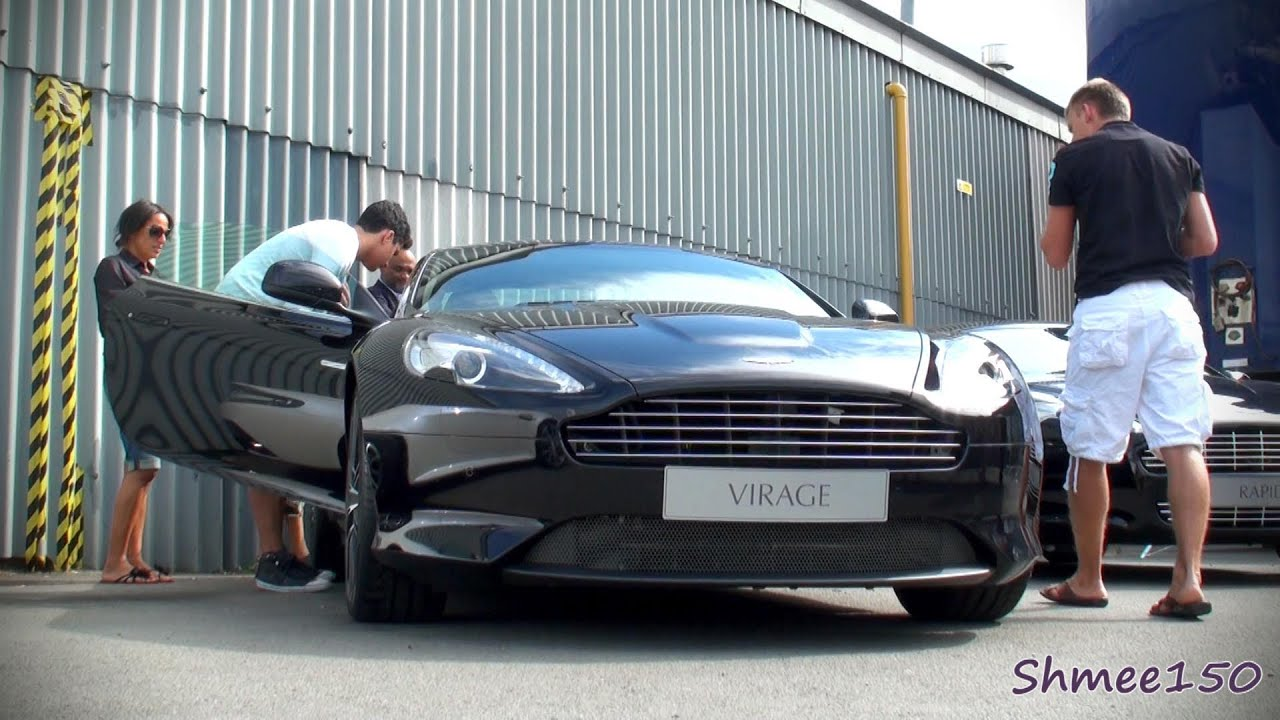 Aston Martin Virage Coupe - Shots at Works Service | aston martin works service