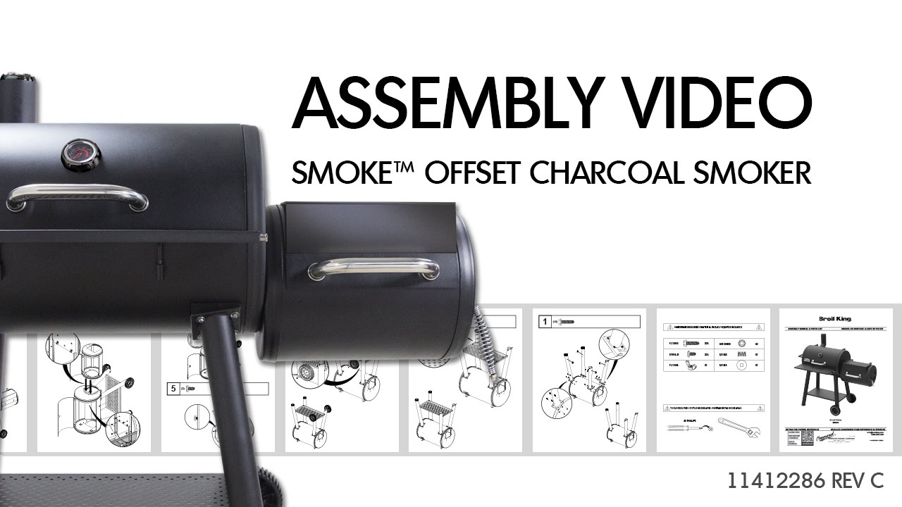 smoke offset charcoal smoker video assembly manual youtube rh youtube com char broil smoker recipes chicken char broil smoker manuals online