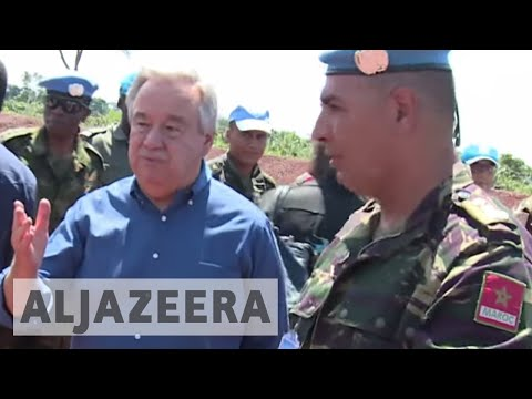UN chief visits areas of conflict in Central African Republic