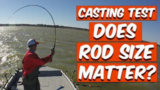 "Casting Test: Does Rod Size Matter? 7''6"" Vs' 9'6"" Rod"