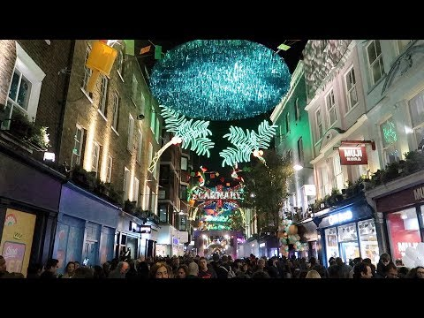 London Christmas Lights Carnaby Street Carnival 2017 Switch On Party Live