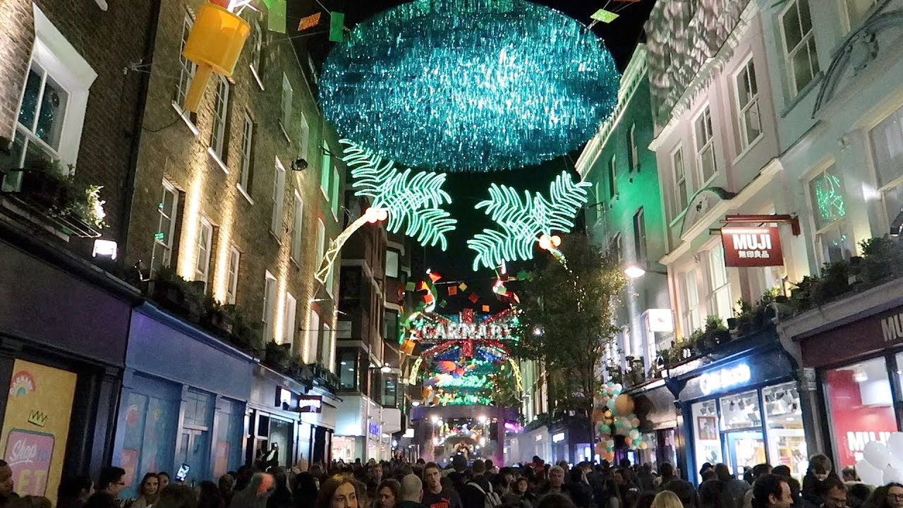 london christmas lights carnaby street carnival 2017 switch on party
