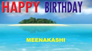 Meenakashi  Card Tarjeta - Happy Birthday