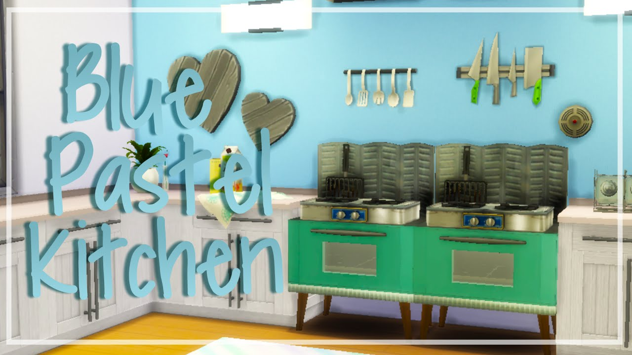 Pastel Kitchen The Sims 4 Speed Room Build Maxis Match Pastel Kitchen Youtube