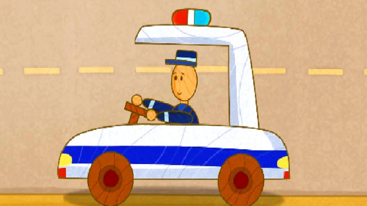 Kids Cartoons. Car Toons: a Police Car