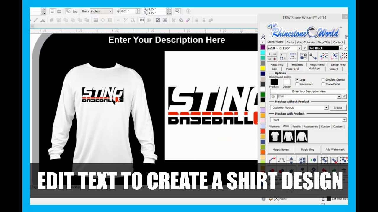 Corel draw vs photoshop for t shirt design - Editing Text In Coreldraw To Make A Baseball Shirt Design