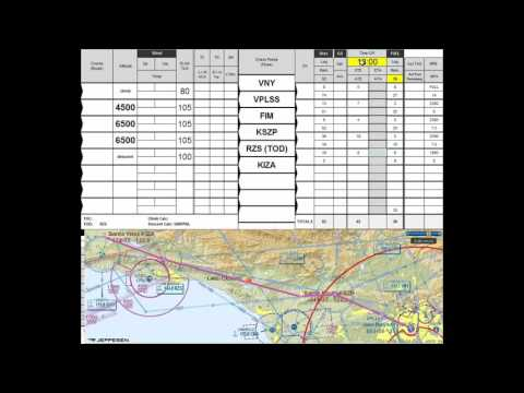 Cross Country Flight Plan Form
