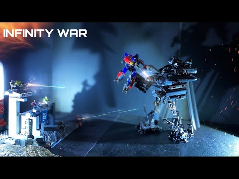 Transformers Stop Motion: Optimus Prime Vs Blackout Ep.3