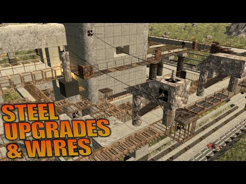 STEEL UPGRADES AND WIRES | 7 Days to Die | Let's Play Gameplay Alpha 16 | S16.4E73