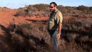 Jim Miller - Looking for wild dog sign and selecting a trap site