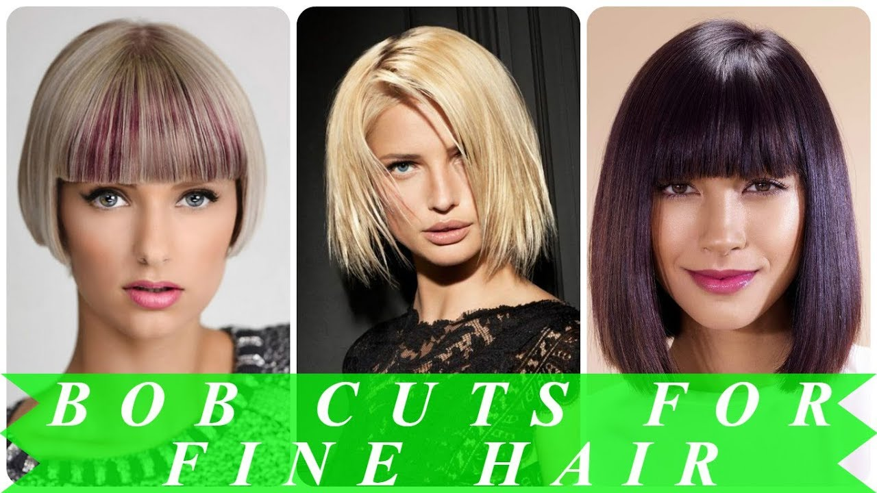 20 Hottest ideas for best bob haircuts for fine hair 2018 - YouTube